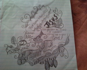 Jesus-doodle