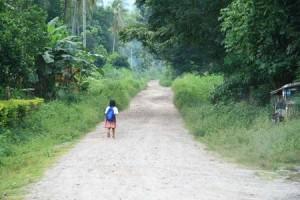 littlegirlwalkingroadalone